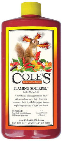 Cole's FS16  16-Ounce Flaming Squirrel Seed Sauce.
