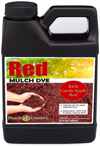 Peach Country Premium Red Mulch Color Concentrate - 2,800 Sq. Ft.(1 QT)