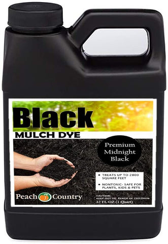 Peach Country Premium Black Mulch Dye,Color Concentrate - 2,800 Sq. Ft. (1QT)