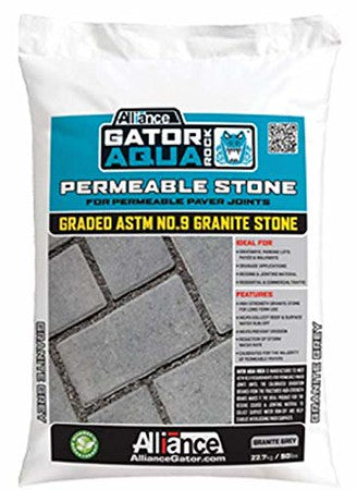 Alliance Gator Aqua Rock Permeable Stone, ASTM No.9 Granite Stone. 50 LB Bag