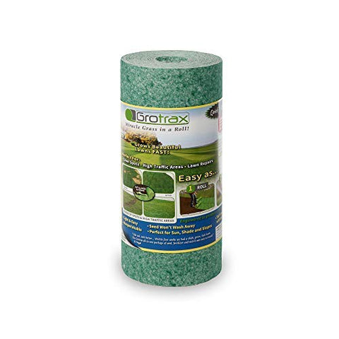 Grotrax Biodegradable Grass Seed Mat, Year Round Green - 50 Sq Ft Quick Fix Roll