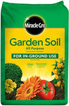 Miracle-Gro 70551430 Garden Soil All Purpose: 1 cu. ft, for In-Ground Use, Feeds for 3 Months, Amends Vegetable, Flower and Plant Beds, 1 CF