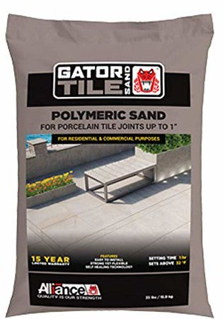 "Alliance Gator Tile Polymeric Sand, up to 1""35lbs(Slate Grey)"
