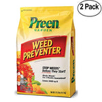 Preen Garden Weed Preventer 31.1 lb Bag, 2 Pack Covers 10,000 sq ft