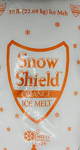 Snow Shield Ice Melt, Orange (50 Pound Bag) Effective to -0°F, Safe for Kids, Pets and Our Earth