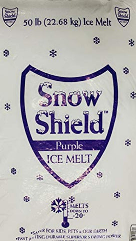 Snow Shield Ice Melt, Purple (50 Pound Bag) Effective to: -0°F, Safe for Kids, Pets and Our Earth