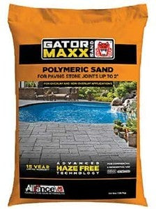 "Alliance Gator Maxx Bond, Polymeric Sand, Joints up to 2"", 50 lb. Bag(Slate Gray)"