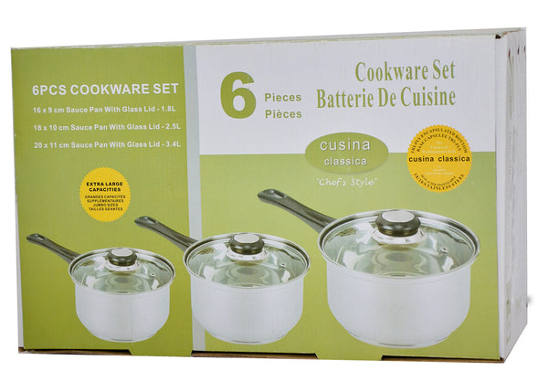 6 Piece Cookware Set