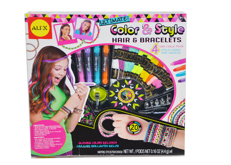 Alex Ultimate Color & Style Hair Chalk & Bracelets