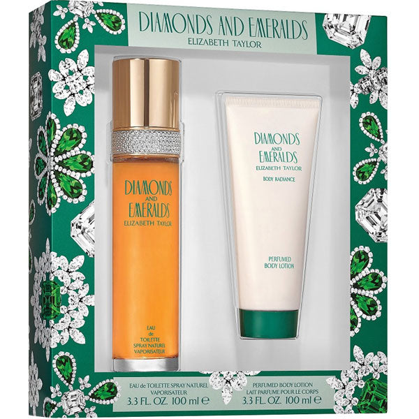 Diamonds & Emeralds 2 Piece Gift Set for Women