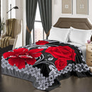 "D&B Plush Blanket 79"" x 94"", Heavy Blanket (10 Pounds) - Soft and Warm, Korean Style Mink Blanket - Red Rose - {product_type] 