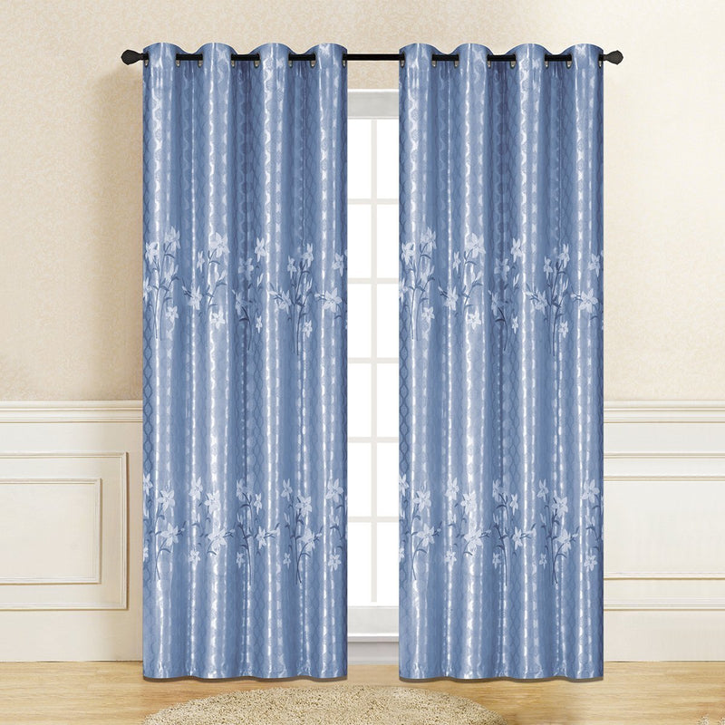 "D&B Natalie Jacquard Collection - Printed Blackout Curtain Panel (56"" x 90"") - {product_type] 