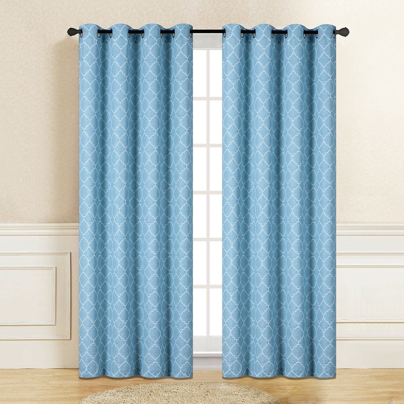 "D&B Pantera Collection - Printed Blackout Curtain Panel (56"" x 90"") - {product_type] 