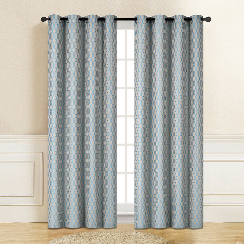 "D&B Pecan Collection - Printed Blackout Curtain Panel (56"" x 90"") - {product_type] 