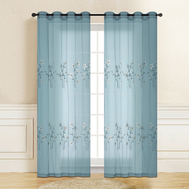 "D&B Natalie Sheer Collection - Printed Curtain Panel (56""x90"") - {product_type] 