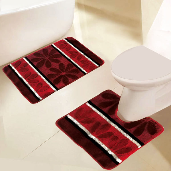 Grover Essentials 2 PC Printed Bath Mat/Rug Set, Non-Slip with Rubber-backing - {product_type] | Grover Essentials