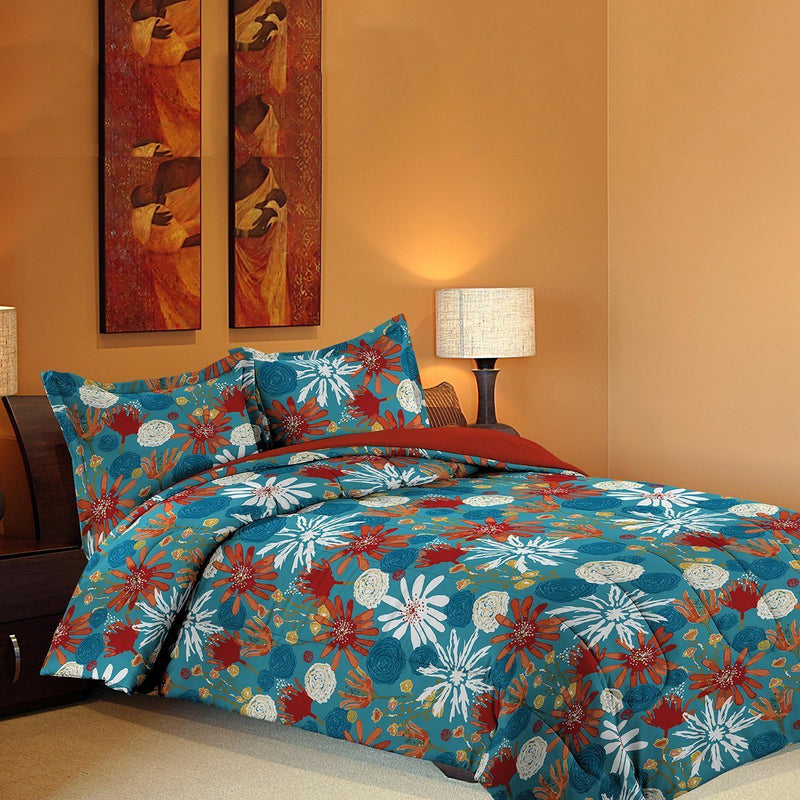 Grover Essentials 3 Piece Printed Comforter Set with Pillow Shams - Reversible Down Alternative Comforter - Coral Reef - {product_type] | Grover Essentials