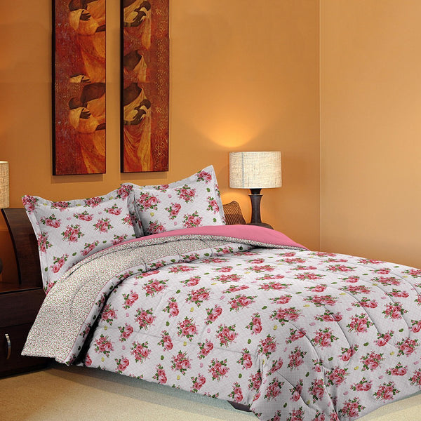 Grover Essentials 3 Piece Printed Comforter Set with Pillow Shams - Reversible Down Alternative Comforter - Sweet Rose - {product_type] | Grover Essentials