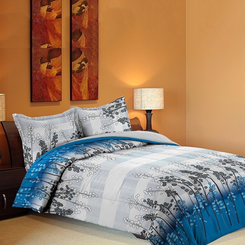 Grover Essentials 3 Piece Printed Comforter Set with Pillow Shams - Reversible Down Alternative Comforter - Underwater Blue - {product_type] | Grover Essentials