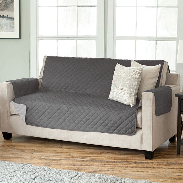 Quilted Reversible Furniture Slipcover - {product_type] | Grover Essentials