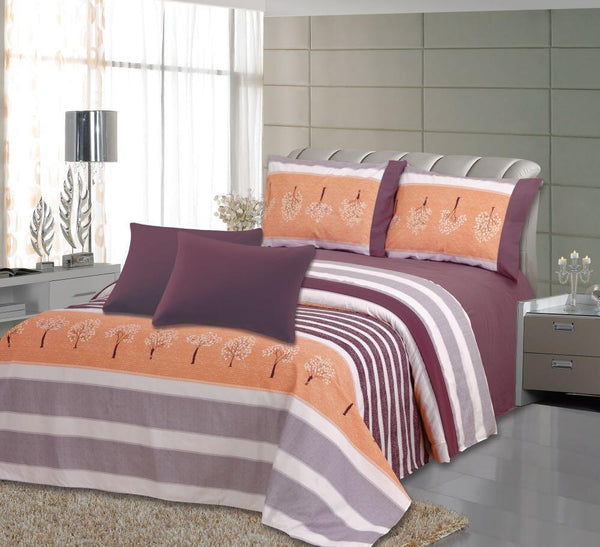 Royal Bamboo 3500 Egyptian Quality Deep Pocket 6-Piece Sheet Set - Magenta Nature Print - {product_type] | Grover Essentials