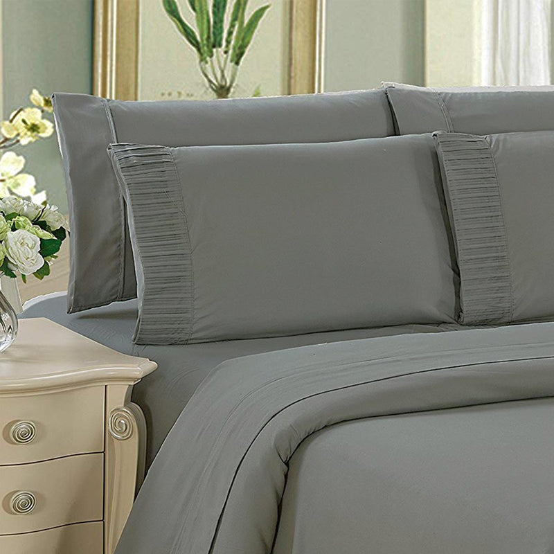 Royal Bamboo 3500 Egyptian Quality Deep Pocket 6-Piece Sheet Set - Solid Colors - {product_type] | Grover Essentials