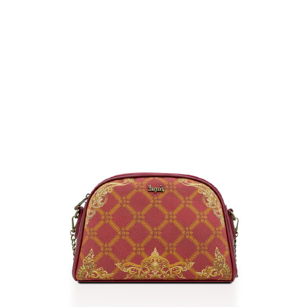 Regalia Burgundy Chain Cross Bag