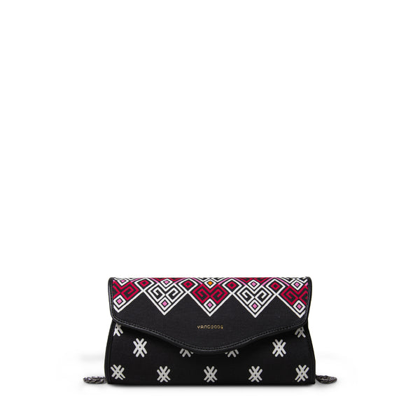 Maykha Black Envelope Clutch
