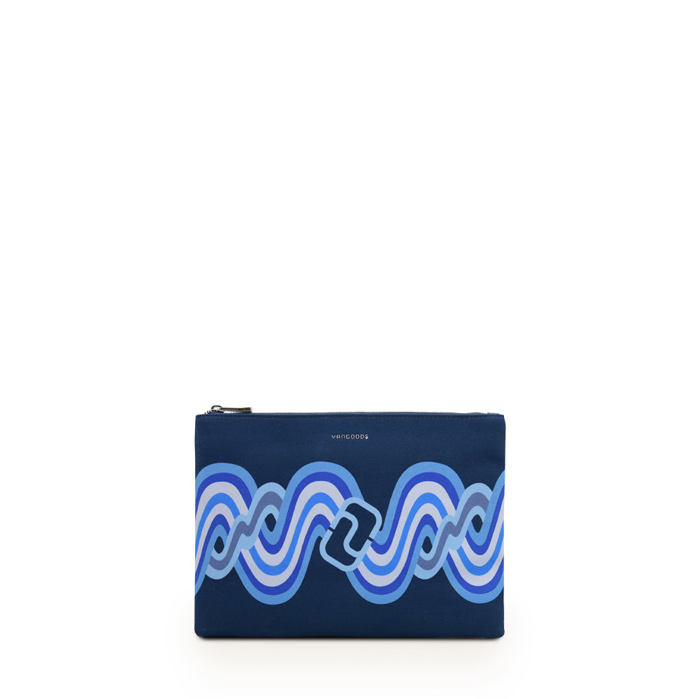 Acheik Navy Medium Clutch