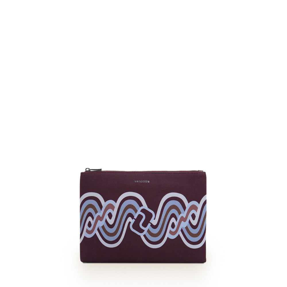 Acheik Plum Medium Clutch