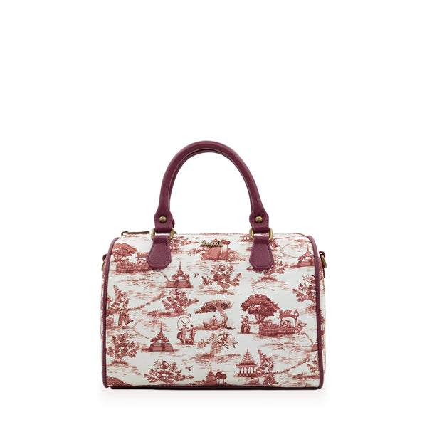 Swal Taw Crimson Boston Bag