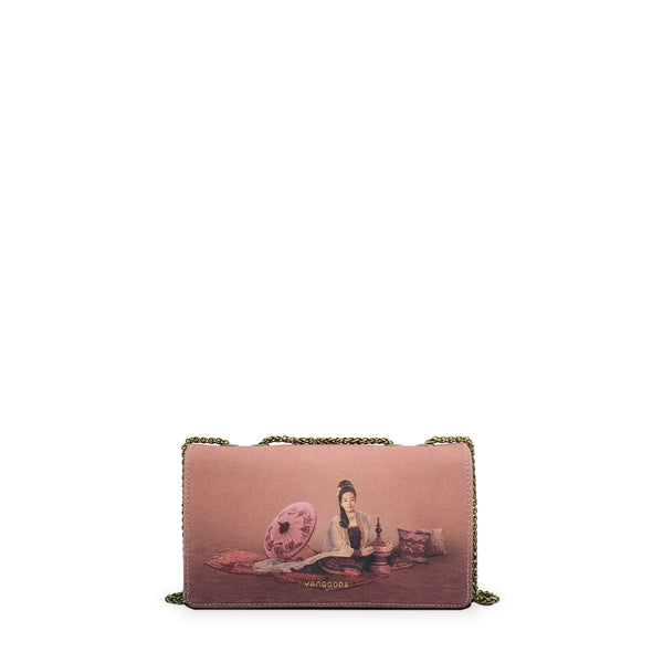 Kalayar Dusty Rose Chain Bag