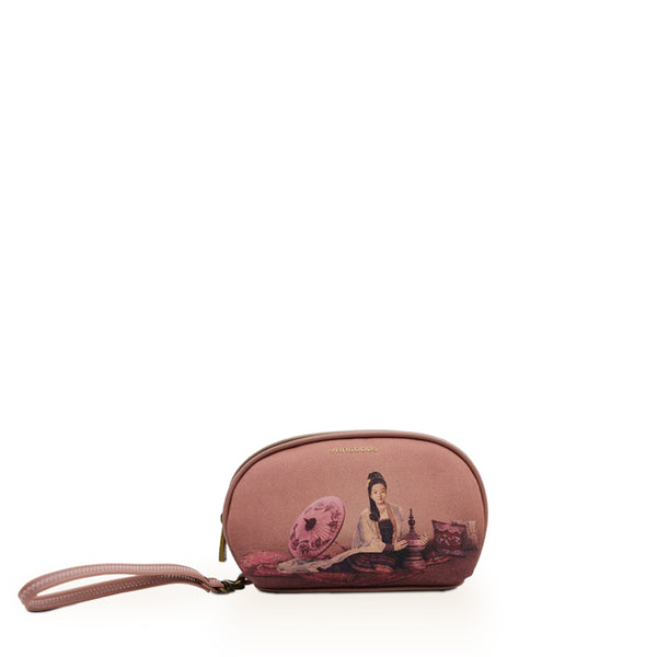 Kalayar Dusty Rose Cosmetic Pouch