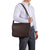 Imperial Men Large Brown Messenger Bag