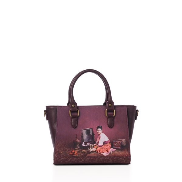 Thanakha Burgundy Medium Tote Bag