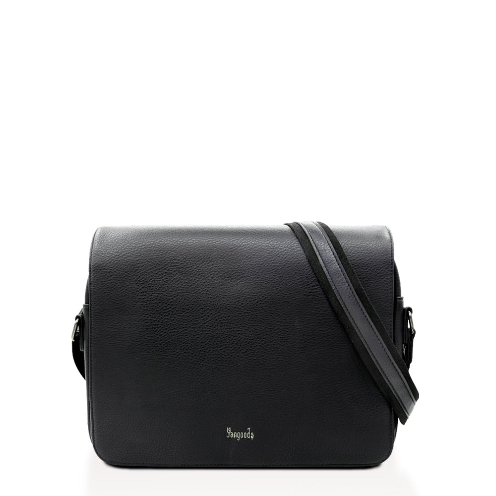 Imperial Men Large Black Messenger Bag