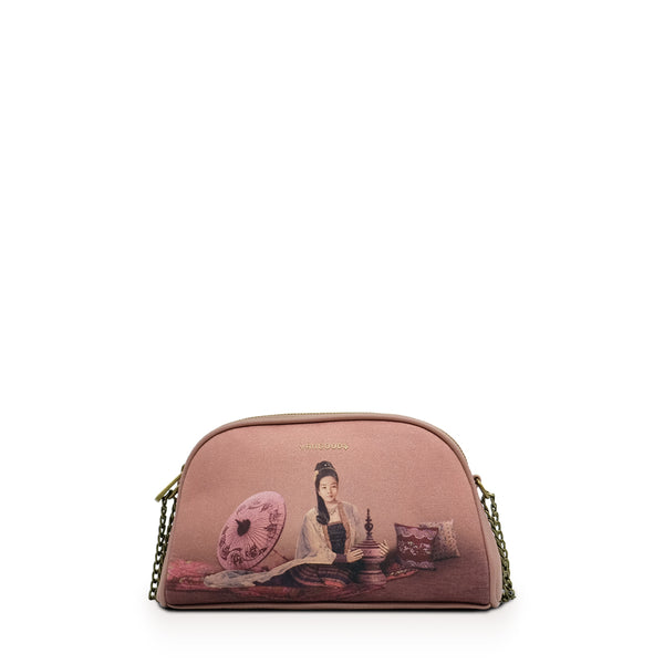 Kalayar Dusty Rose Mini Chain Cross Bag