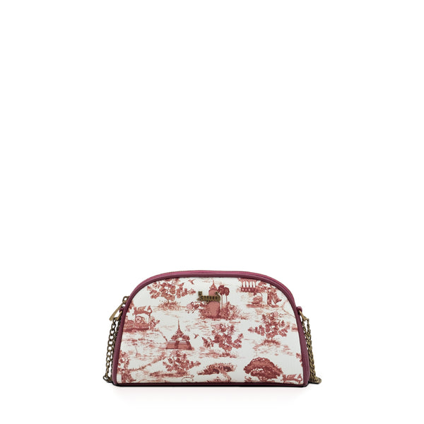 Swal Taw Crimson Mini Chain Cross Bag