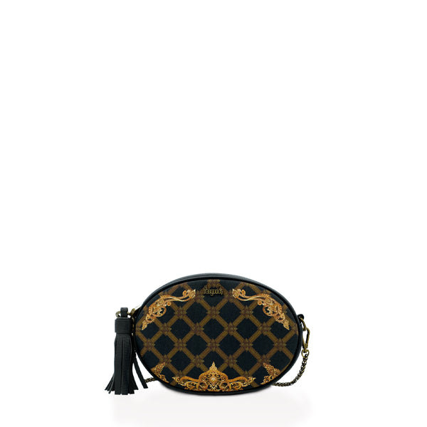 Regalia Onyx Oval Cross Bag