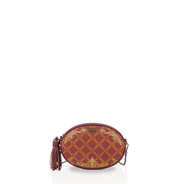 Regalia Burgundy Oval Cross Bag