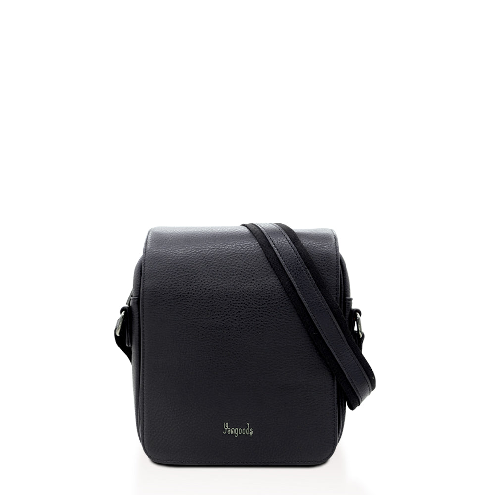Imperial Men Small Black Messenger Bag