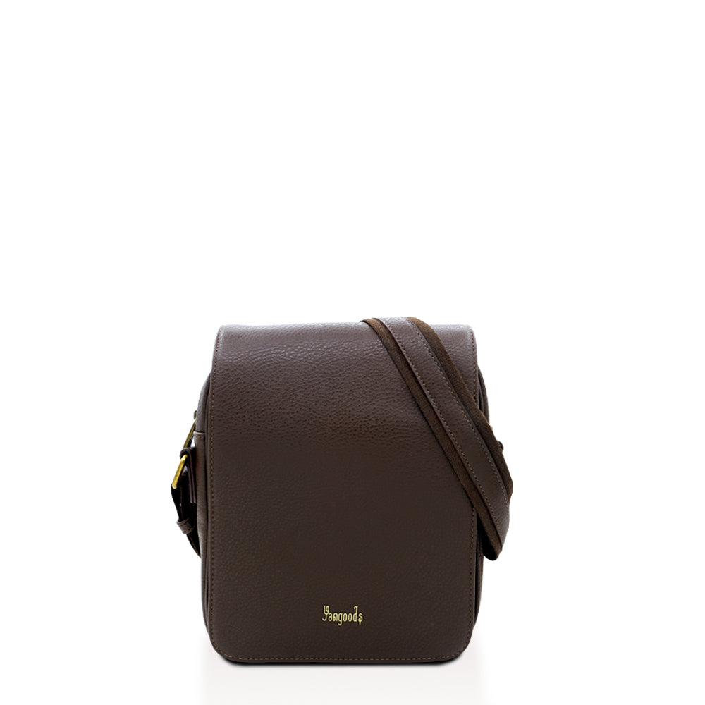 Imperial Men Small Brown Messenger Bag