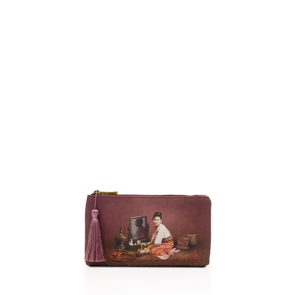 Thanakha Burgundy Wallet Pouch