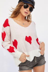 Be Mine Scalloped Sweater
