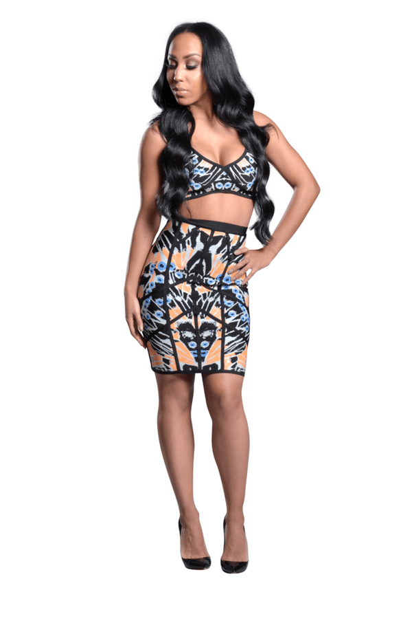 Trinity' Two Piece Sleeveless Bandage Dress