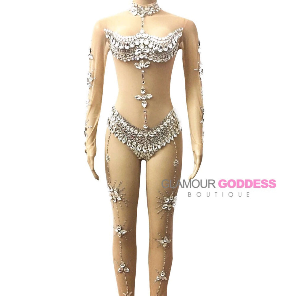 Asha' Jeweled Bodysuit