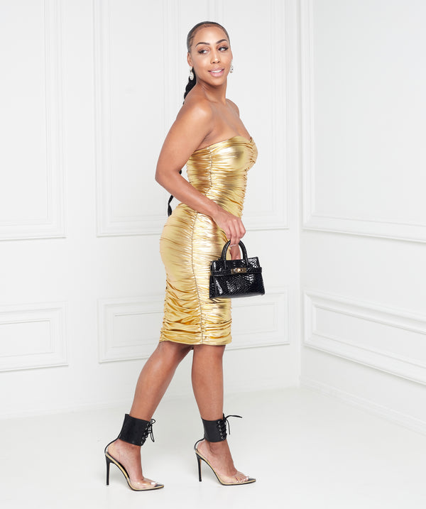 Gold Digger Mini Tube Dress