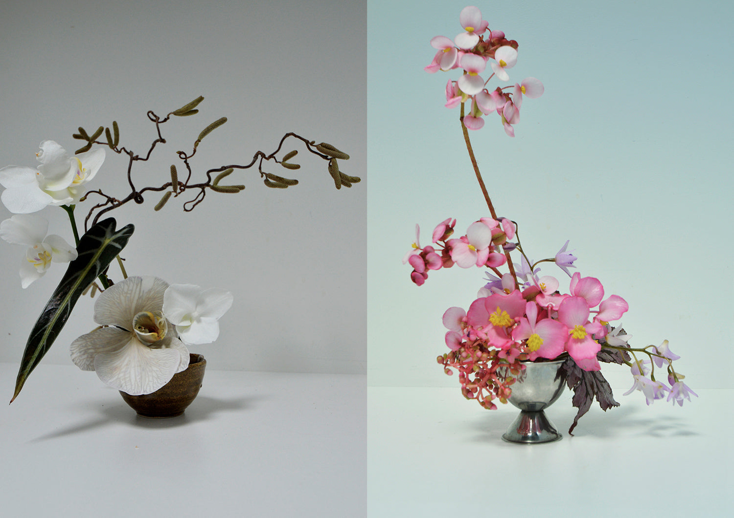 Poho Flower's Inzali Shwe creates beautiful Ikebana arrangements in Sydney.