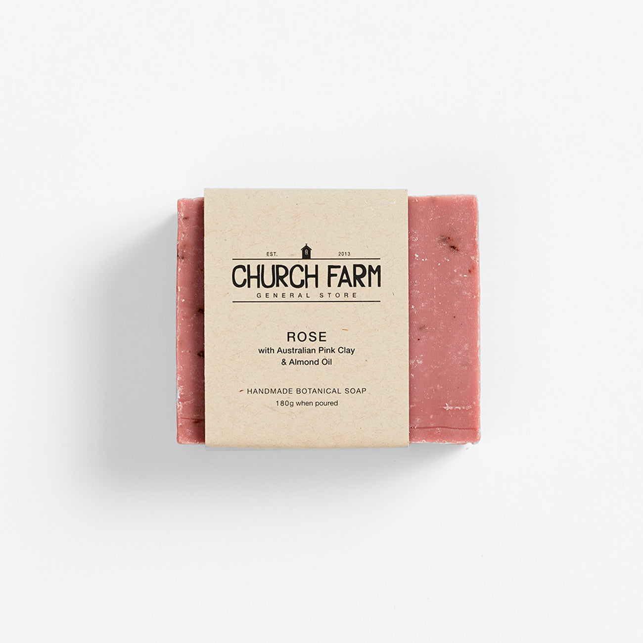 Church Farm Botanical Soap - Rose with Australian Pink Clay & Almond Oil