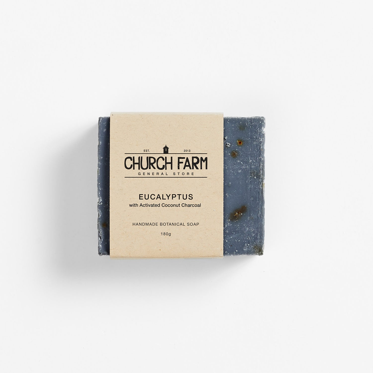 Church Farm Botanical Soap - Eucalyptus & Activated Coconut Charcoal